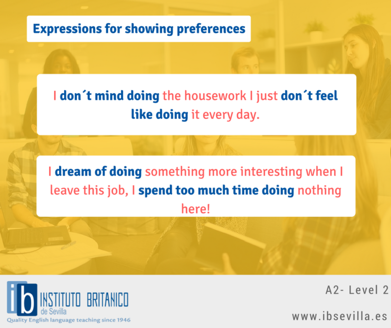 Expressions for showing preferences Level 2 Feb 27