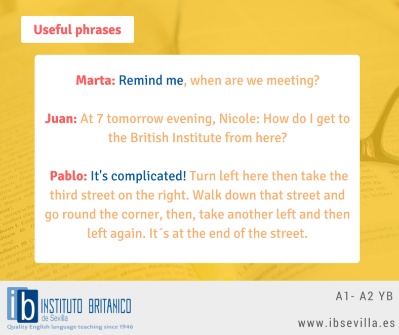 YB A2 - A2 March 20 Useful Phrases - Remind me, It's complicated