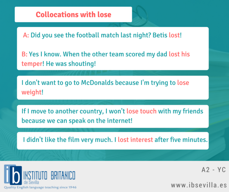 Collocations with lose