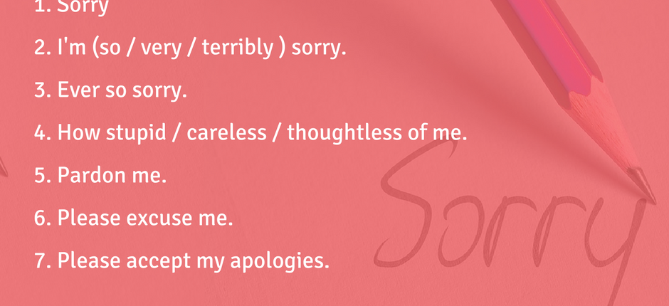 Phrases for Apologizing